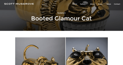 DepartmentD.com - ScottMusgrove.com Booted Glamour Cat sculpture